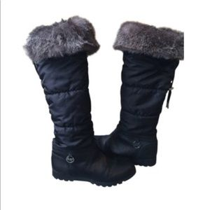 Michaels Kors Black Boots with Fur Band